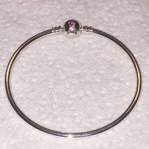 Pandora pink ribbon LE bangle bracelet 7.5